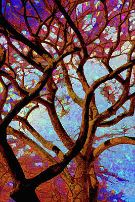 Trees Of Another Color Poster by Robert Ullmann