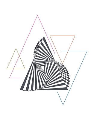 Triangle Op Art Poster by BONB Creative