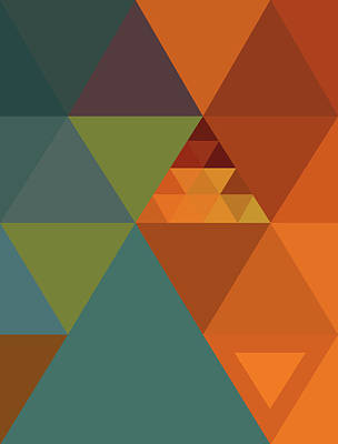 Triangles Colors City 2 Poster by Francisco Valle