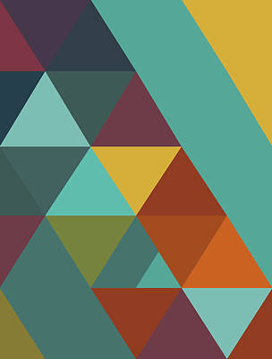 Triangles Colors City 4 Poster by Francisco Valle