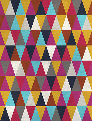 Triangles Design Colors Poster by Francisco Valle
