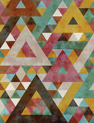 Triangles Kaleidoscope Poster by Francisco Valle