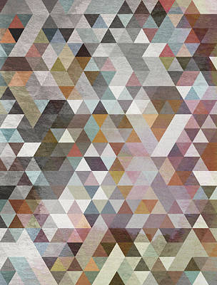 Triangles Pastel Poster