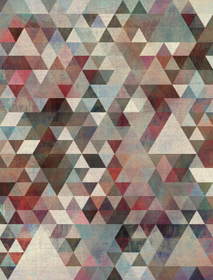 Triangles Rusty Poster by Francisco Valle