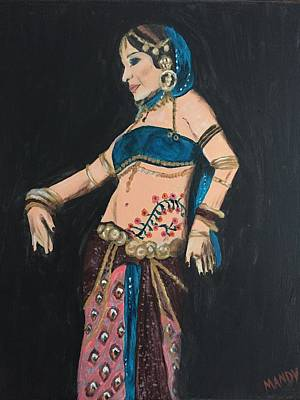 Tribal Belly Dancer Poster