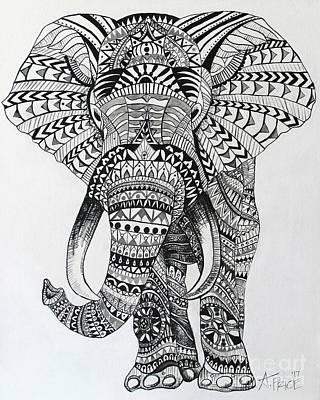 Poster featuring the painting Tribal Elephant by Ashley Price