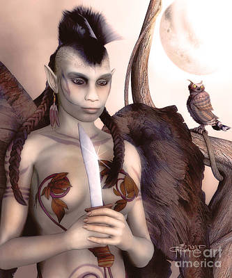 Tribal Elf Poster