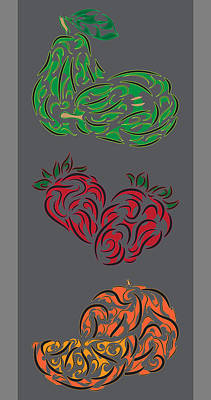 Tribal Fruit Series  Poster