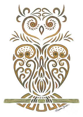 Tribal Owl Poster