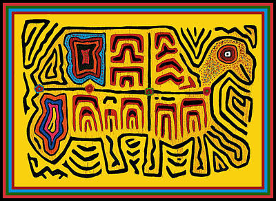 Tribal Turtle Spirit Poster by Vagabond Folk Art - Virginia Vivier
