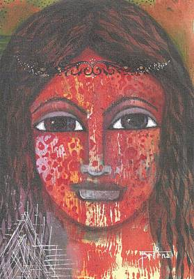 Poster featuring the mixed media Tribal Woman by Prerna Poojara