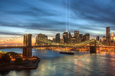 Tribute In Light I Poster by Clarence Holmes