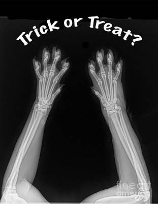 Poster featuring the photograph Trick Or Treat by Bill Thomson