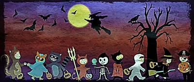 Trick Or Treaters - Grunge Poster