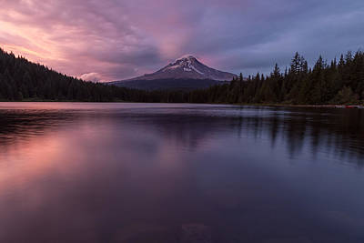 Poster featuring the photograph Trillium Lake Glow by Patricia Davidson