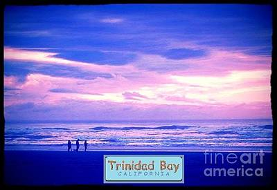 Trinidad Bay Sunset Logo Poster