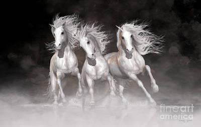 Trinity Horses Neutrals Poster by Shanina Conway