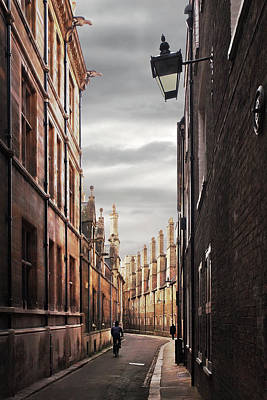Poster featuring the photograph Trinity Lane Cambridge by Gill Billington