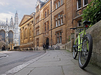 Poster featuring the photograph Trinity Lane Clare College Cambridge Great Hall by Gill Billington