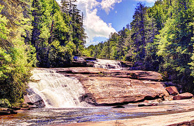 Triple Falls - Dupont Forest Poster