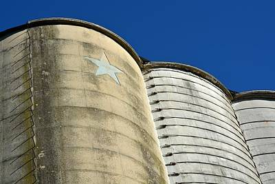 Triple Silo With Star Poster