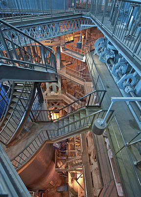 Poster featuring the photograph Triple Steam Stairs 2 by Rick Hartigan