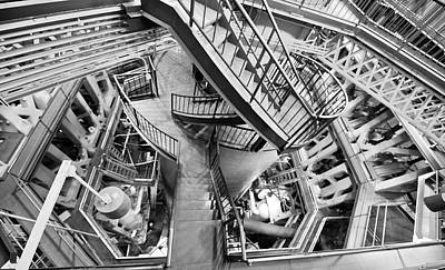 Poster featuring the photograph Triple Steam Stairs Ala Escher by Rick Hartigan