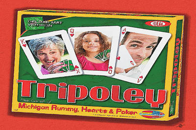 Tripoley Board Game Painting Poster by Tony Rubino