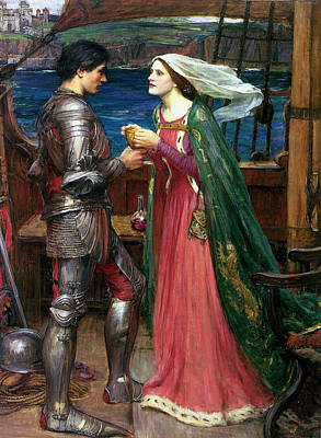 Tristan And Isolde With The Potion Poster by John William Waterhouse