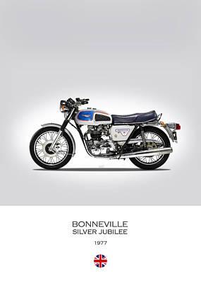 Triumph Bonneville Silver Jubilee Poster by Mark Rogan