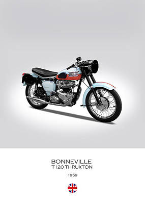 Triumph Bonneville T120 Thruxton Poster by Mark Rogan