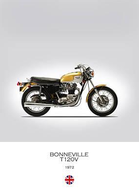 Triumph Bonneville T120v 1972 Poster by Mark Rogan
