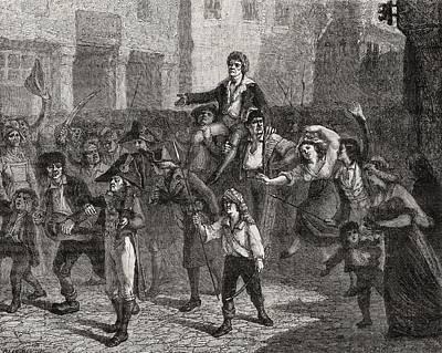 Triumph Of Marat,24 April 1793 Poster by Vintage Design Pics
