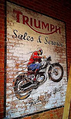 Triumph Sales And Services Poster by Kathy Barney