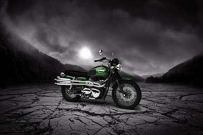 Triumph Scrambler 900 2012 Mountains Poster
