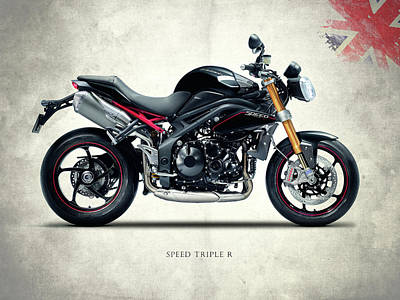 Triumph Street Triple Poster by Mark Rogan