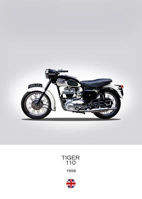 Triumph Tiger 1958 Poster by Mark Rogan