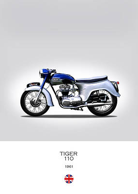 Triumph Tiger 1961 Poster by Mark Rogan