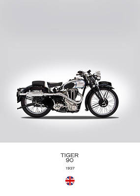 Triumph Tiger 90 Poster by Mark Rogan