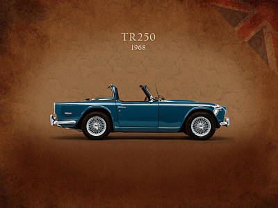 Triumph Tr250 Poster by Mark Rogan