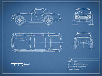 Car Blueprint Posters | Fine Art America