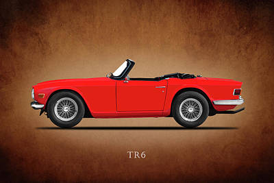 Triumph Tr6 Poster by Mark Rogan