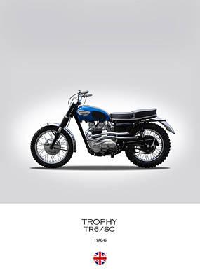 Triumph Trophy Tr6 Poster by Mark Rogan