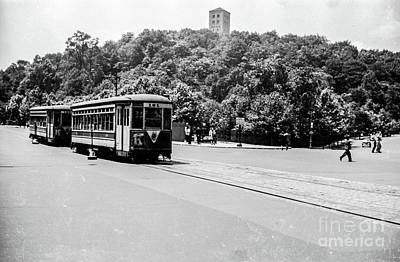 Poster featuring the photograph Trolley With Cloisters by Cole Thompson