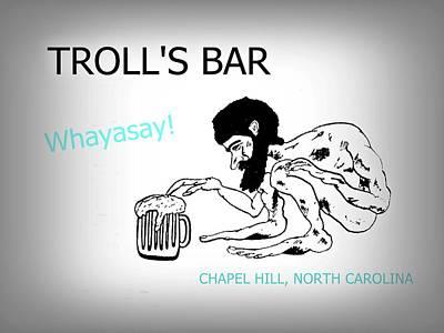 Troll's Bar Chapel Hill Nc Poster