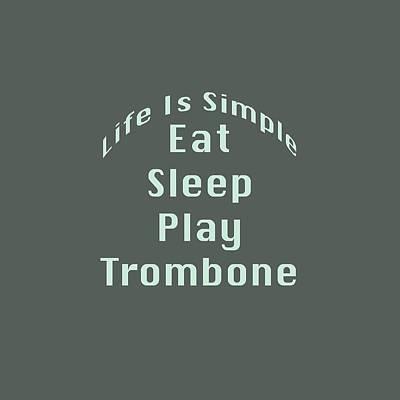 Trombone Eat Sleep Play Trombone 5518.02 Poster