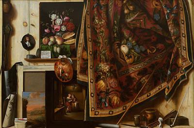 Trompe L'oeil. A Cabinet In The Artist's Studio Poster