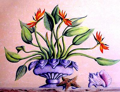 Trompe L'oeil  Birds Of Paradise Poster