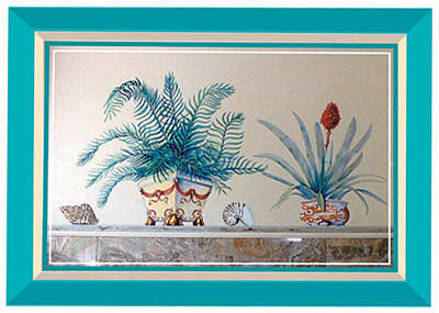 Trompe L'oeil Plants Poster