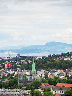 Trondheim, Norway Cityscape Poster